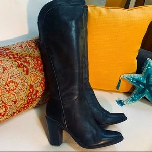Audrey Brooke Knee High DALLAS Heeled Leather Boot